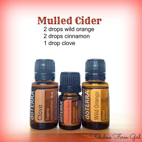 Mmm, yummy. A Mulled Cider blend for fall! | Get started using doTERRA essential oils: http://www.weedemandreap.com/order-essential-oils