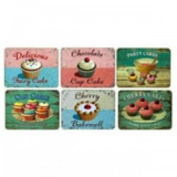 cupcake theme again: placemats that could be framed and hung. Vintage style that would be so different to use as wall art.