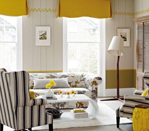 Die besten 25+ Eingerichtetes Wohnzimmer Ideen auf Pinterest - moderne wohnzimmer gardinen