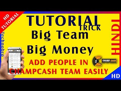 How to make big team easily in Champ Cash in Hindi Earn Money trick online -  http://www.wahmmo.com/how-to-make-big-team-easily-in-champ-cash-in-hindi-earn-money-trick-online/ -  - WAHMMO