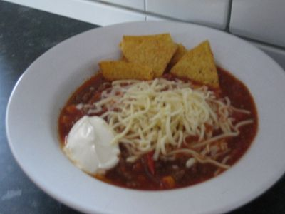 Taco soup done in 20 min,