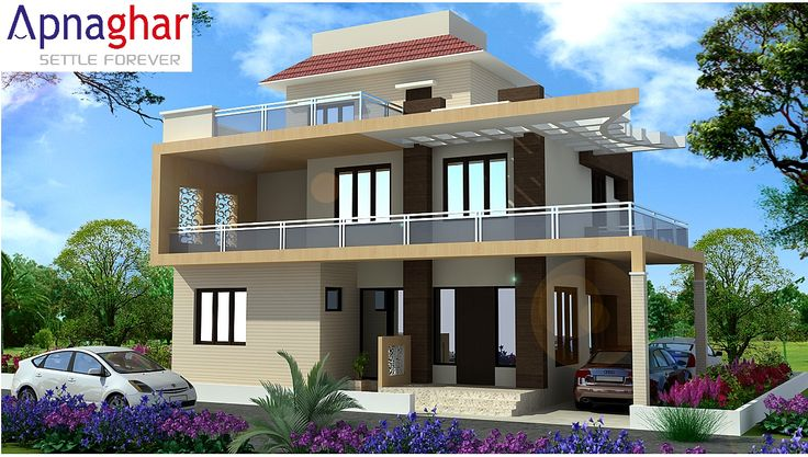 3d front and side view of the building which helps you for Building house with side views