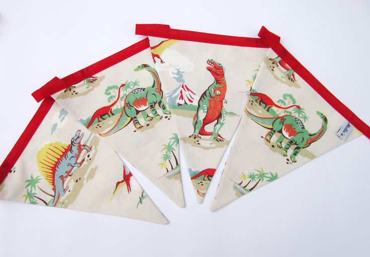 Dinosaur Bunting made from gorgeous Cath Kidston fabric