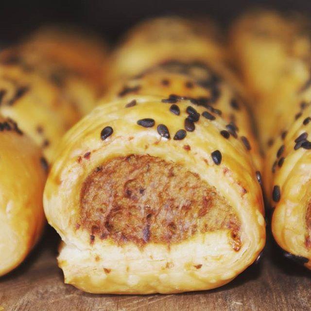 House made pork apple and walnut sausage roll, tomato relish #wigrambaseweddings #canape #wigrambase #nz #christchurch #wedding