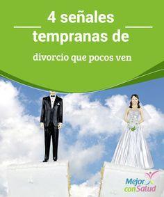 """4 señales tempranas de divorcio que pocos ven Cuando una pareja se casa o se van a vivir juntos hacen una promesa: se amarán """"hasta que la muerte los separe"""". Sin embargo, no siempre la cumplen por ignorar las señales tempranas de divorcio."""