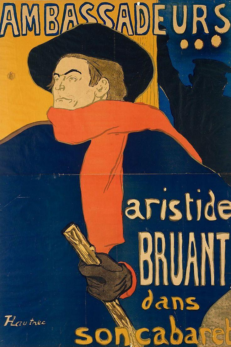 Poster design 19th century - Lautrec Ambassadeurs Aristide Bruant Poster 1892
