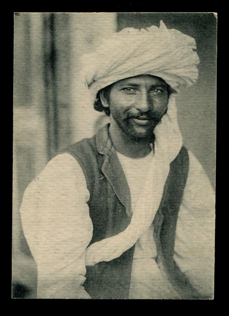 Afghan man - Russian postcard - early 20th century.