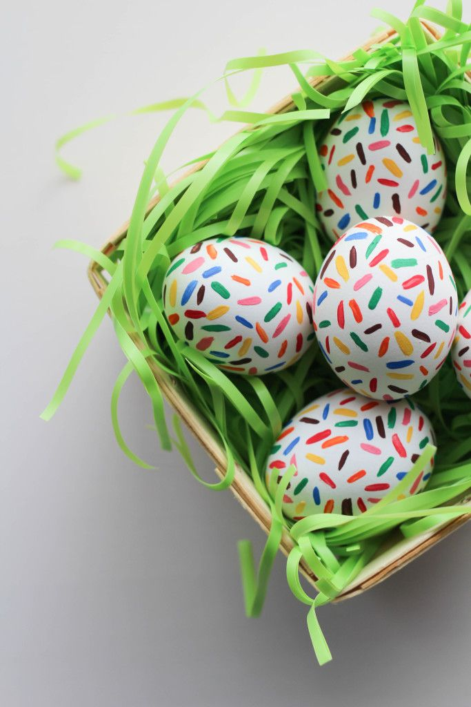 DIY Sprinkle Easter Eggs - Let's Mingle Blog