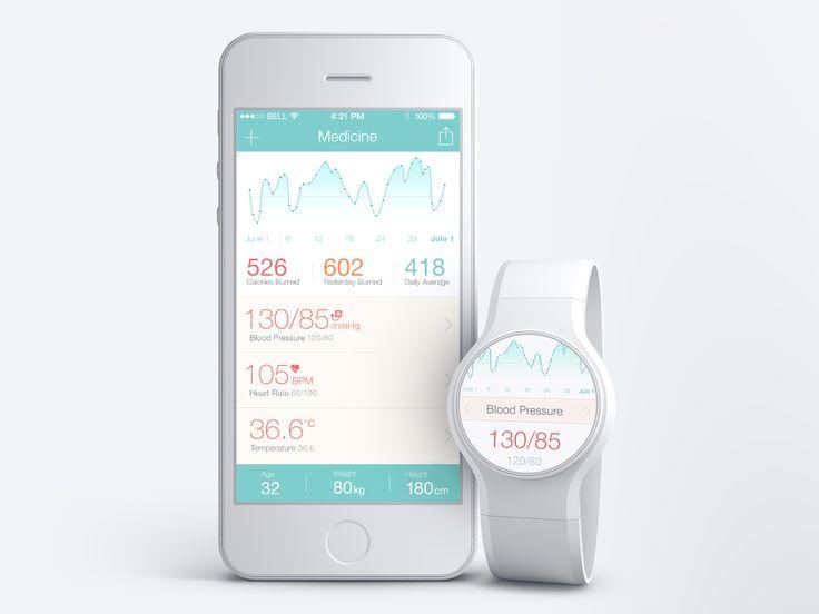 Medical App + Watch concept