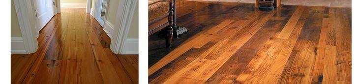 long length wide plank reclaimed hardwood flooring