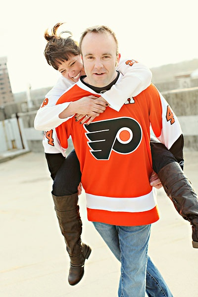 our @Philadelphia Jackman Flyers #engagement shoot #NHL #Flyers #hockey #photography #couples #nhlflyers