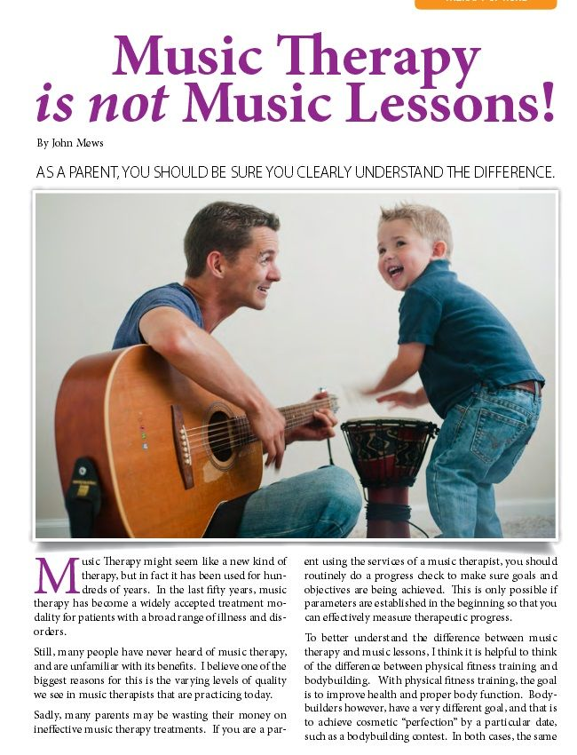 Understand the difference between music therapy and music lessons #ParentingResources