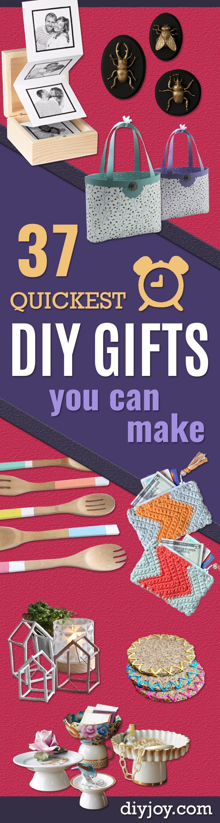Best 86 diy gift ideas ideas on pinterest gift ideas bag 37 quickest diy gifts you can make solutioingenieria Gallery