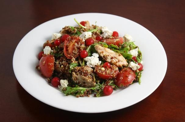 Healthy Chicken Salad with Quinoa and Apricot Vinaigrette