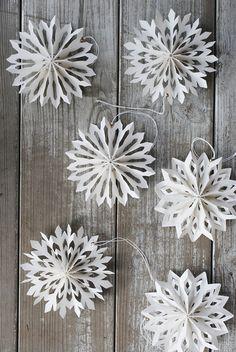 Dekoration: Schneeflocken