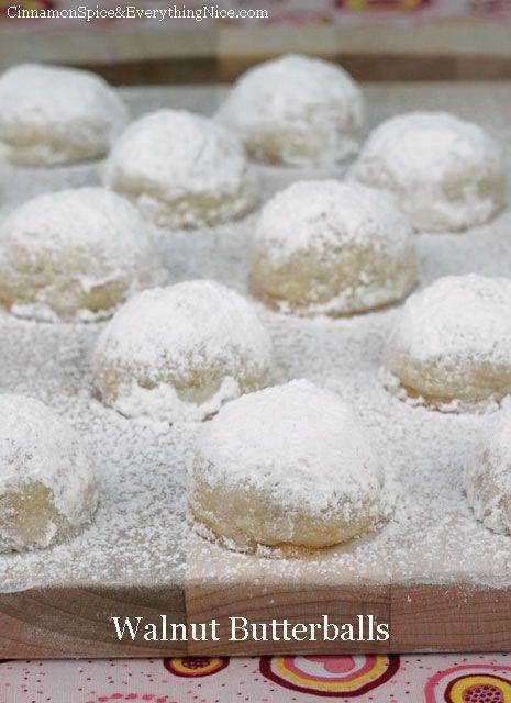 Walnut Butterball Cookies