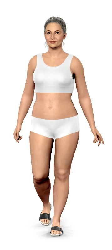 Personalize your virtual model, then add your current weight and goal weight....see how different you will look! Click the More Options button to customize the model to look more like you - hair color, shape of body/facial features, etc.