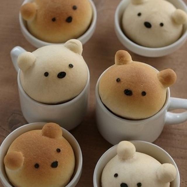 Bear buns :3 <3.... But I won't be able to eat it.. It's to cute