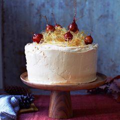 Toffee apple, date and walnut cake - Sainsbury's Magazine