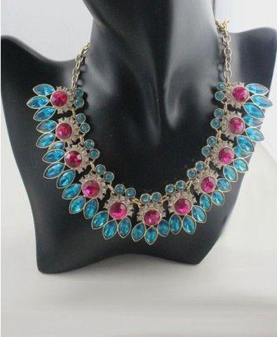 Lotus Petal Diamante Short Necklace - Jewellery - Bags & Accessories