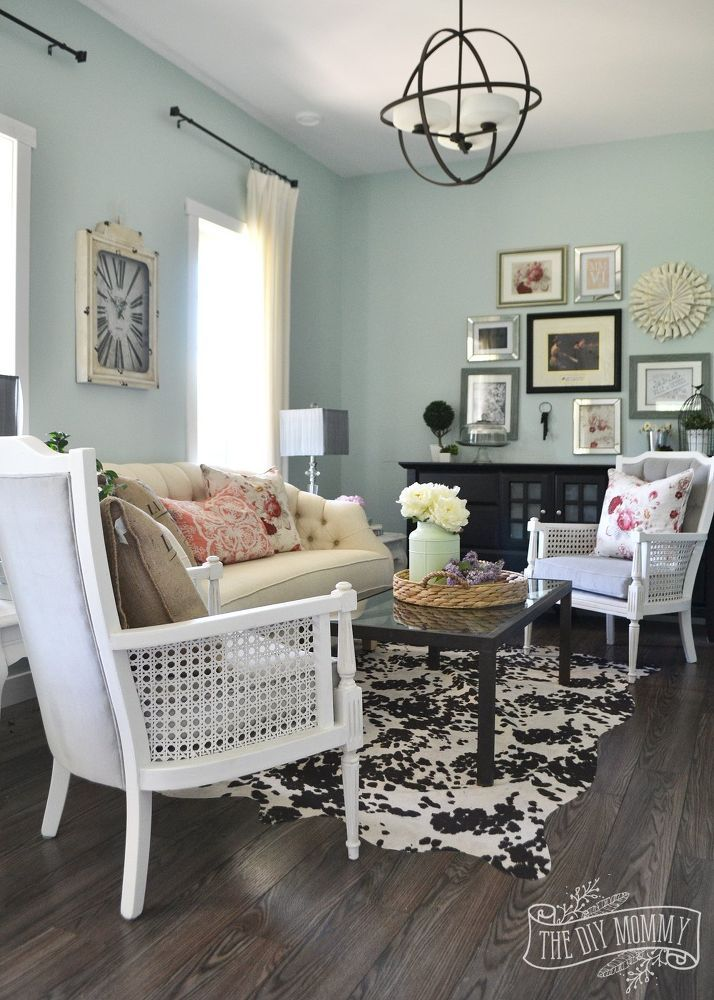 A Vintage Industrial Country Summer Home Tour. Cowhide FabricCowhide RugsFlooring  ...