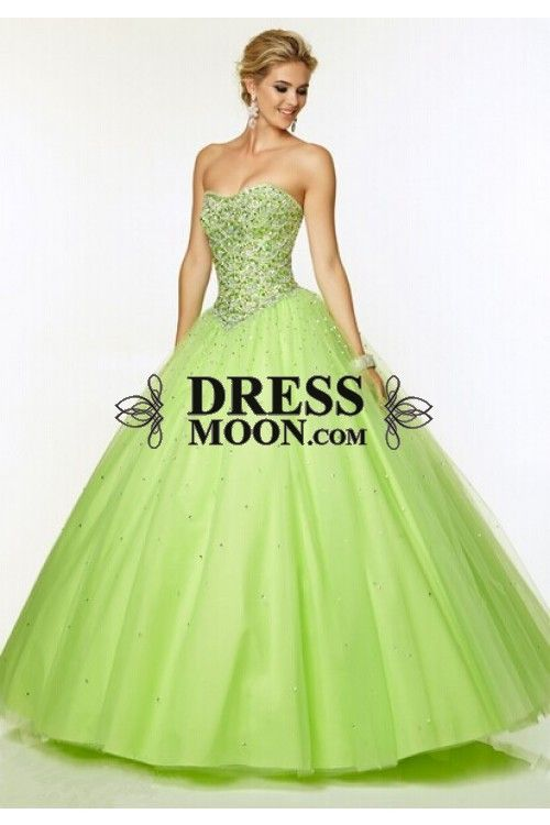 2015 Quinceanera Dresses Green Sweetheart Ball Gown Floor-Length tulle With Beads Lace Up - Quinceanera