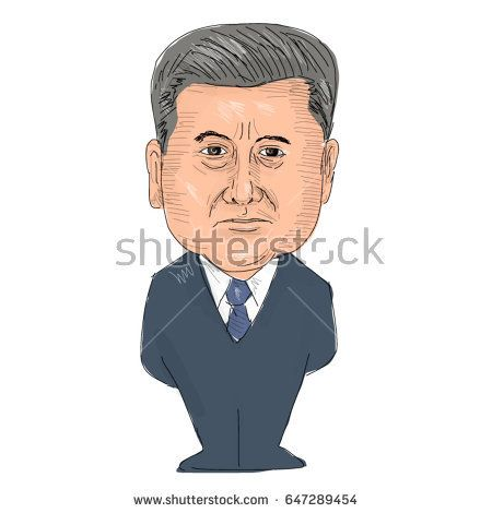 May 24, 2017: Watercolor style illustration of Petro Poroshenko, President of Ukraine viewed from front set on isolated white background done in cartoon caricature style.   #PetroPoroshenko #caricature #illustration
