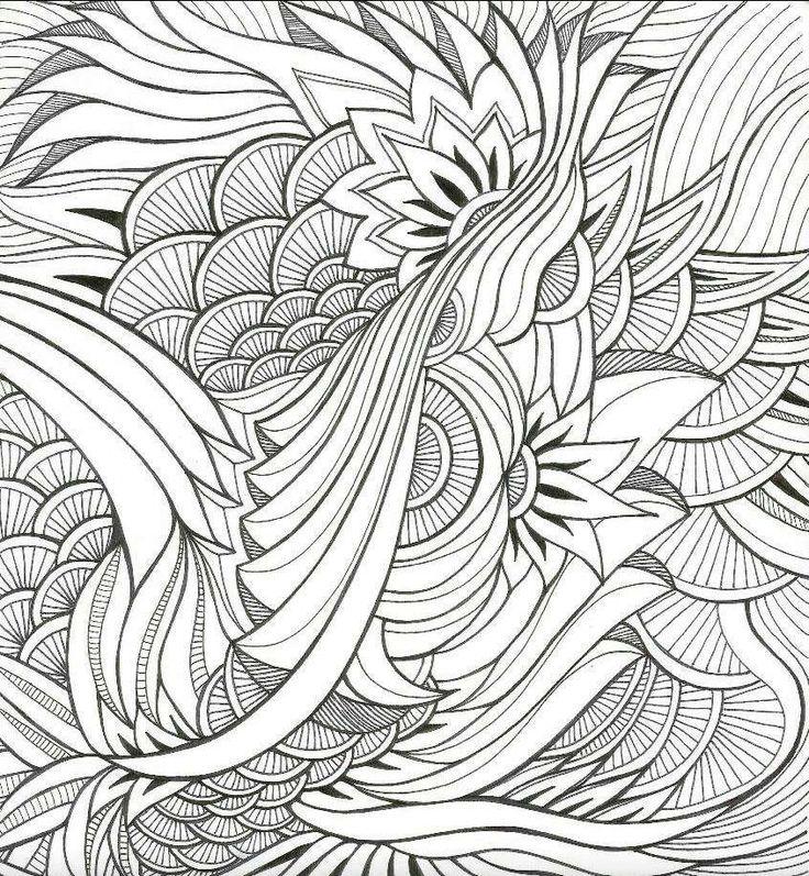 Раскраска антистресс - красивые узоры | Раскраски ...