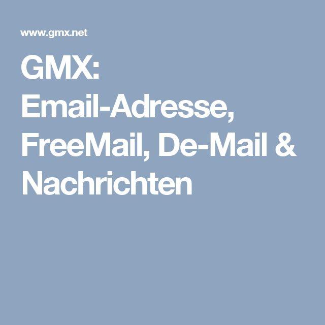 GMX: Email-Adresse, FreeMail, De-Mail & Nachrichten