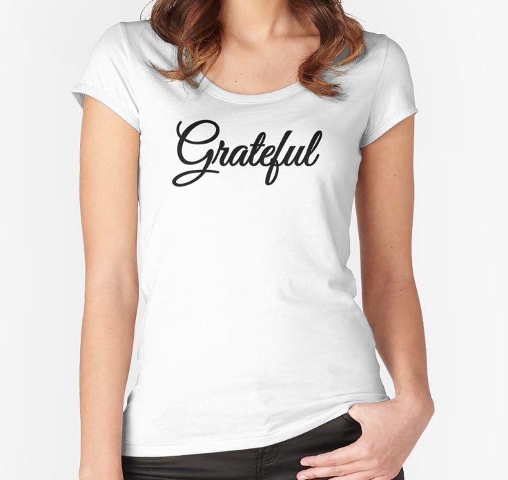 Grateful  by typogracat | gratitude t shirt, spirituality, buddhism, yoga