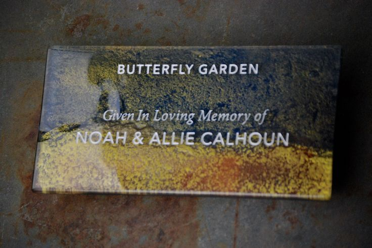 Hand-painted glass plaque. Donor Recognition, Donor Signage, Name Plaques, Glass Signs, Tributes, Donor Walls.