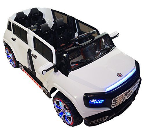 TwoSeater 4Door Premium Ride On Electric Toy Car For Kids  12V Battery Powered  LED Lights  MP3  RC Parental Remote Controller  Suitable For Boys  Girls  Real Paint  White ** Continue to the product at the image link.