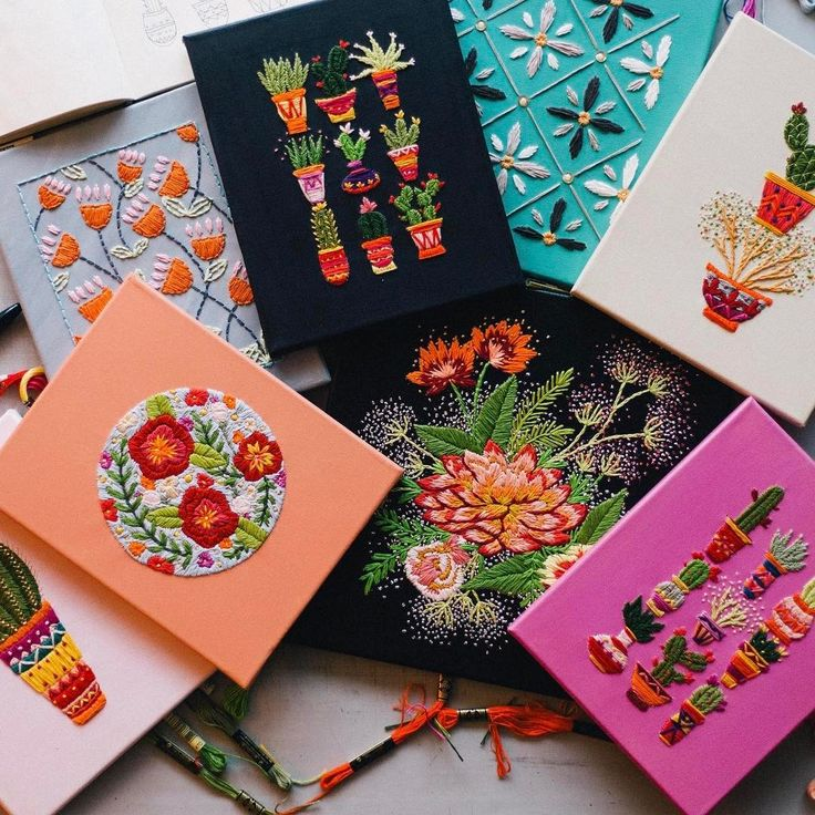 Assorted Embroidery ideas http://www.bjcraftsupplies.com/sewing/embroidery-thread-07.asp