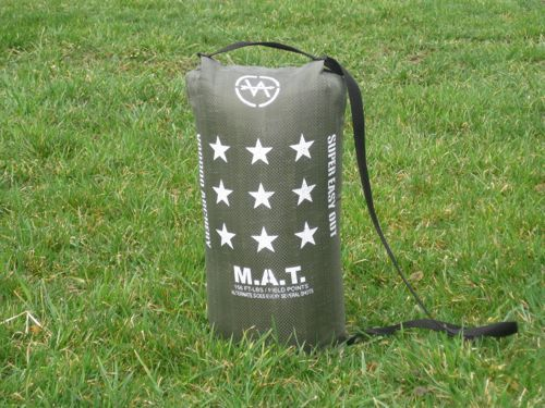 M.A.T. Crossbow Target from Voodoo Archery.  These targets are really made well and are inexpensive enough to purchase a few of them so you can setup your own range to practice shooting your crossbow.