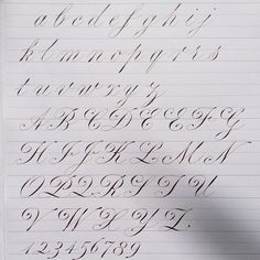 CALLIGRAPHY EVERYDAY - Italian Roundhand #huyhoangdao #copperplate...