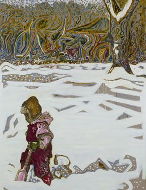 Billy Childish, Girl in Snow with Tree