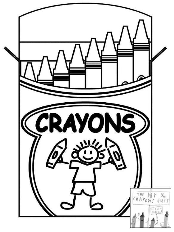 The Day The Crayons Quit Coloring Page School Coloring Pages Coloring Pages For Kids Coloring Pages