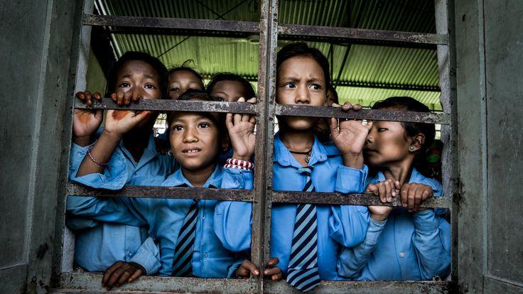 Niñas ex kamalaris en una residencia en Nepal.