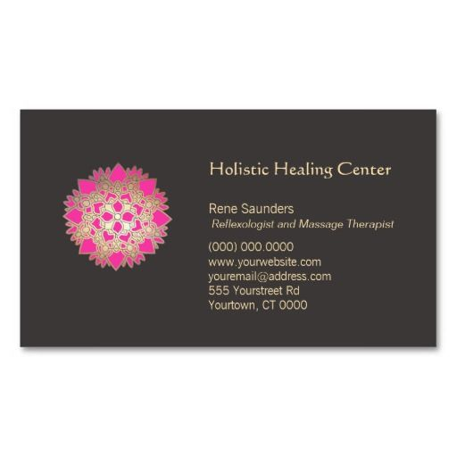265 best massage business cards images on pinterest business card pink lotus holistic healing arts business card accmission Choice Image