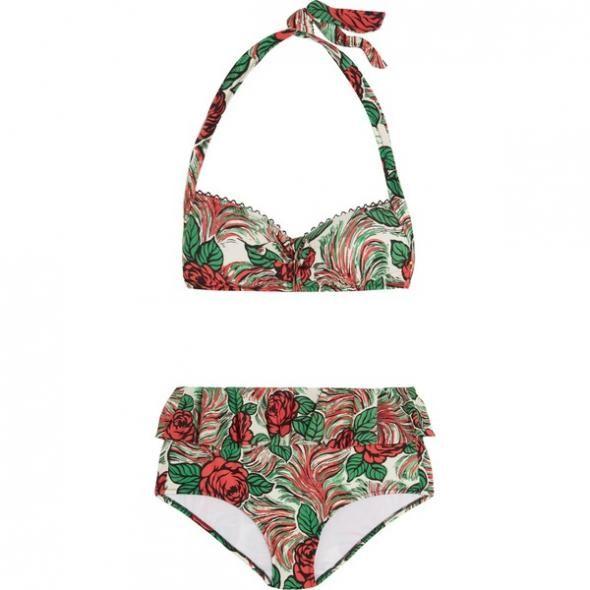 Bedruckter Neckholder-Bikini von ANNA SUI über Net-A-Porter DE, ca. 95 €