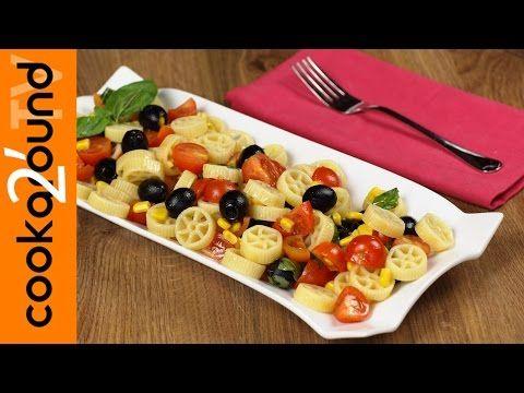 pasta fredda con pomodorini mais e olive - ricetta