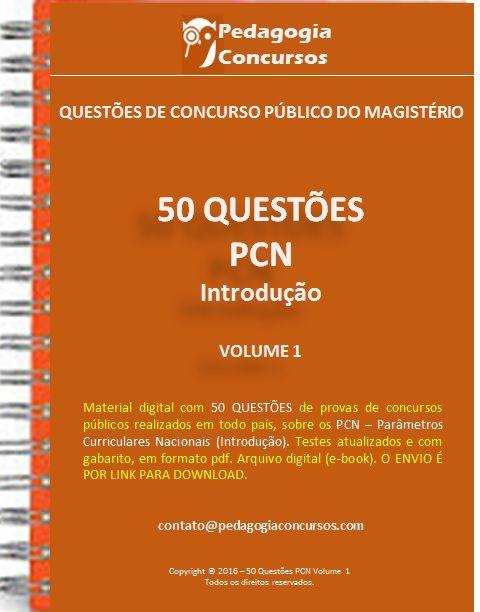 50 Questões sobre PCN - Parâmetros Curriculares Nacionais