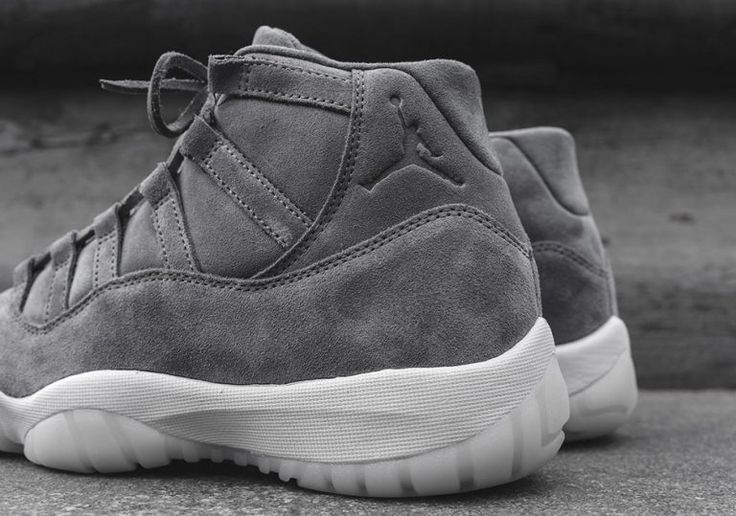 New images and information on the recent release of the Air Jordan 11 Grey suede, a new premium, suede-covered release of Jordan Brand's most popular model.