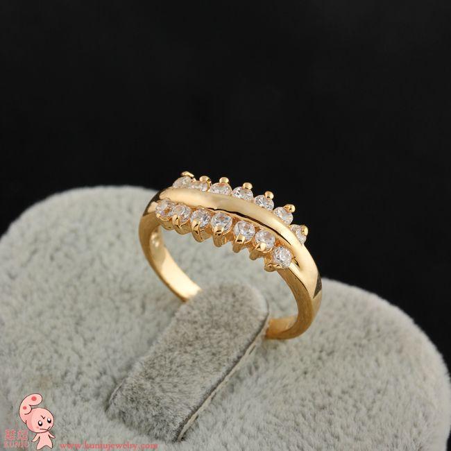 Простая жизнь 18 К золото заполнено Женщин Кольцо (KUNIU J0406) БЕСПЛАТНАЯ ДОСТАВКА
