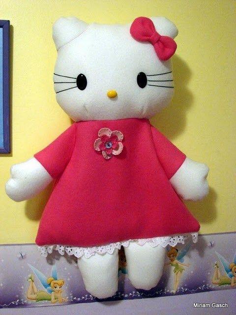 Muñeca Hello Kitty portapijamas | PatronesMil