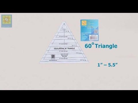 How to use the EZ Quilting 60 degree triangle with Jennie Rayment