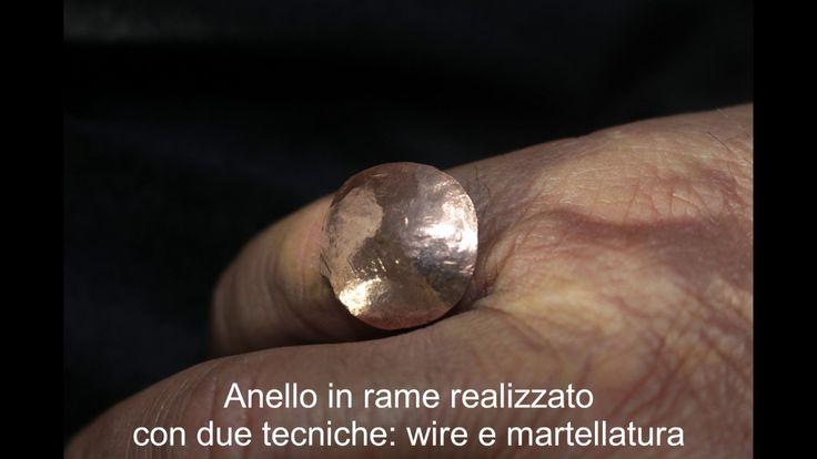Anello realizzato a mano in Rame martellato. creazioni i4elementi