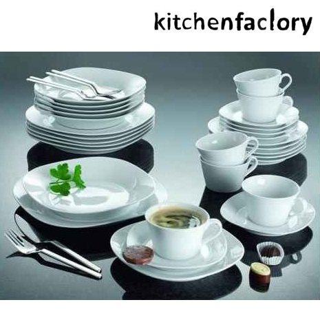 Middagsservise i 30 deler – 6 middagstallerkner, 6 dype skåler, 6 lunsj/forrettallerkner, 6 kopper og 6 asjetter