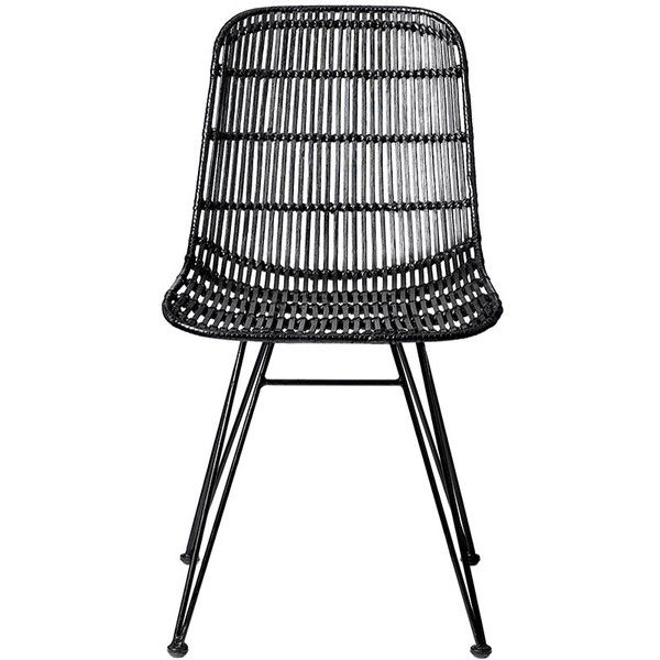 Rattan Outdoor Chairs Part - 37: Bloomingville Darling Rattan Chair - Black ($428) ? Liked On Polyvore  Featuring Home,