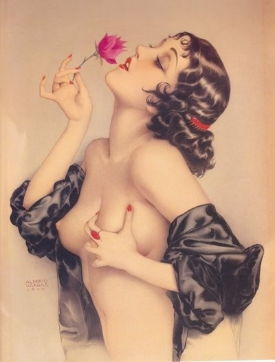 """Remembering Olive Thomas"" by Alberto Vargas, 1920."